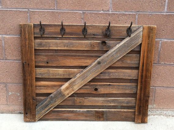 Country Rustic Reclaimed Barn Wood Coat Rack For Mudroom Or Entryway Magnificent Reclaimed Barn Wood Coat Rack