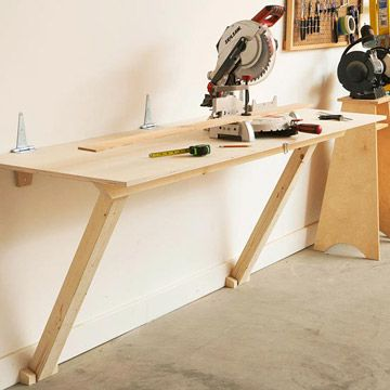 unique folding garage workbench 5 fold flat workbench plans garage workshop pinterest. Black Bedroom Furniture Sets. Home Design Ideas