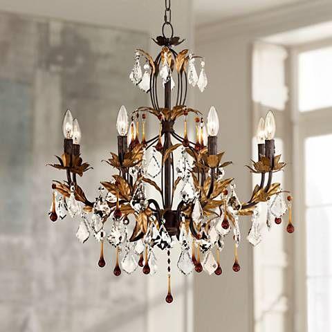 Kathy Ireland Venezia Gold 8 Light 26 Wide Chandelier 87551 Lamps Plus Chandelier Design Kathy Ireland