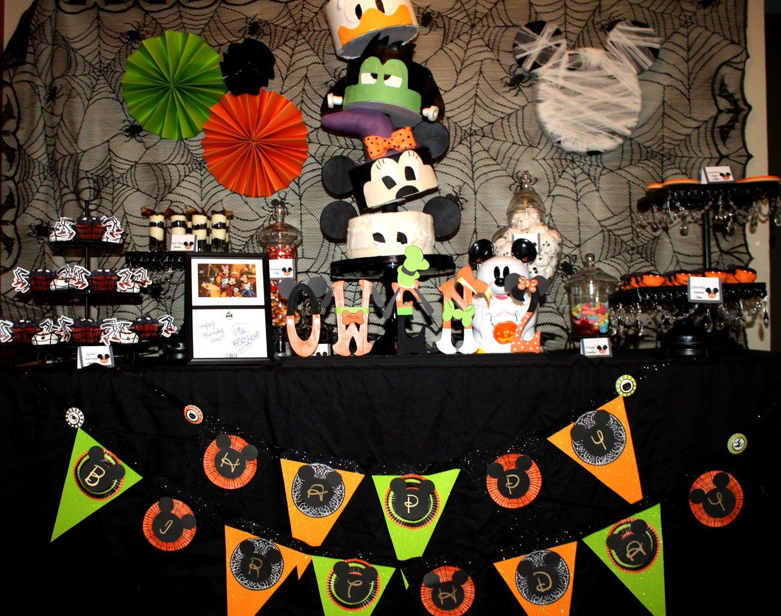 Mickey Mouse Halloween Birthday Party Ideas Hallowen