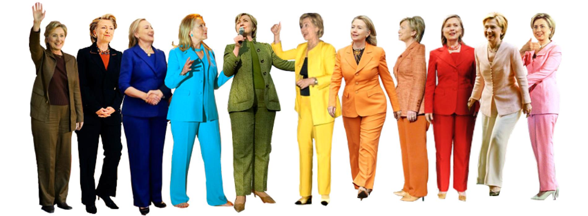 hillary pantsuit rainbow design inspo rando cool stuff