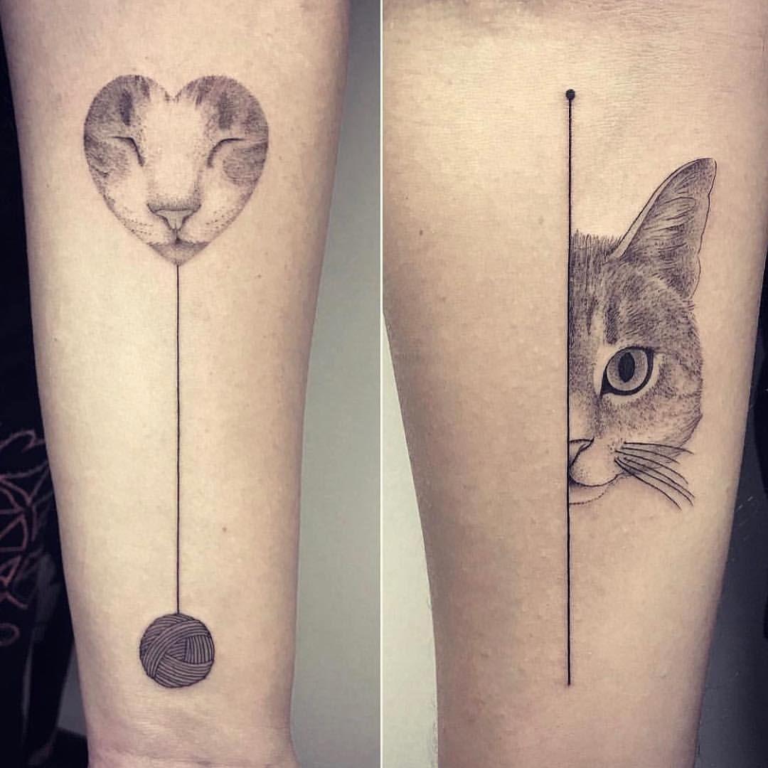 Tatuaje De Gatos En Ovillo Tatuajes Tattoos