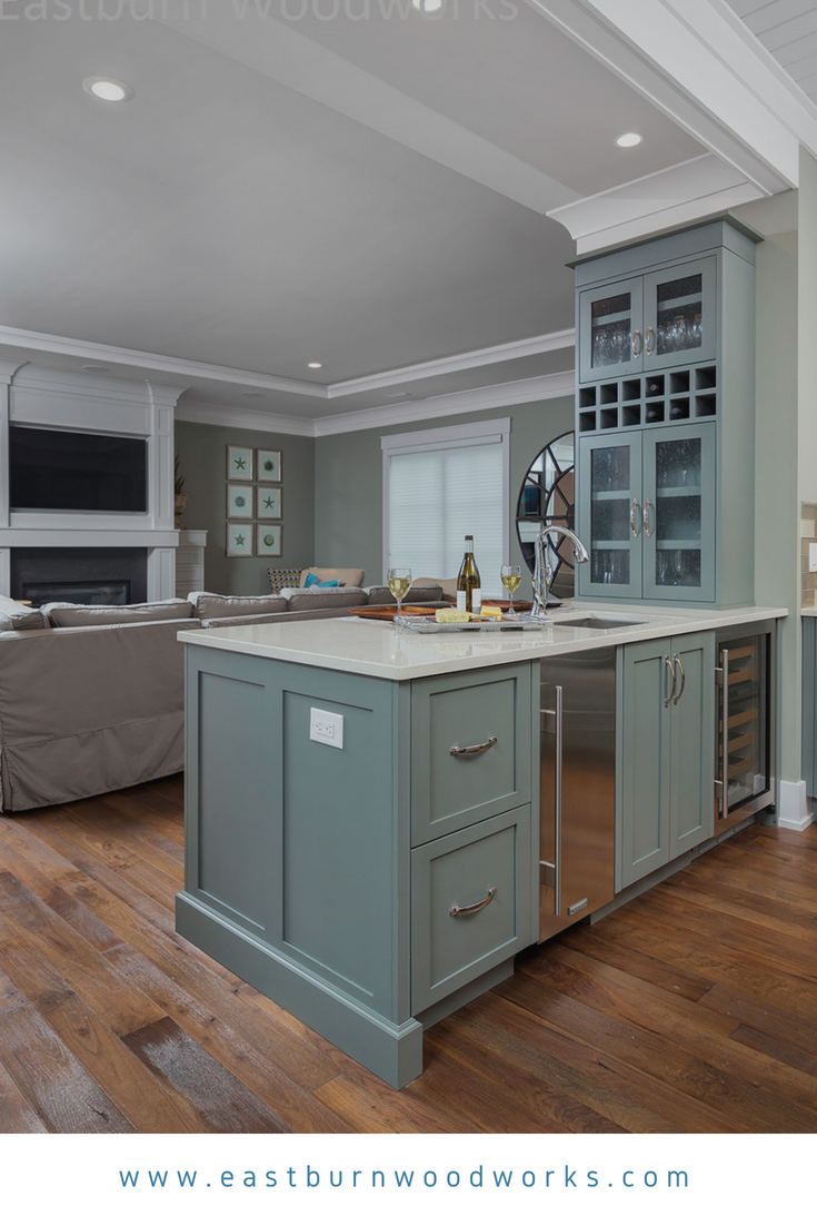 Shaker interior door styles blue shaker styled kitchen cabinets with glass panel doors  kitchen