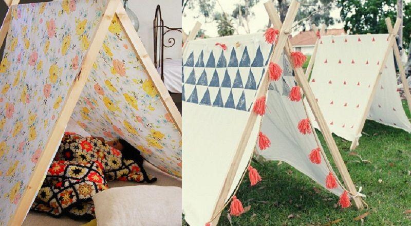 comment fabriquer une tente pour enfant avec peu de mat riel pour les enfants pinterest tipi. Black Bedroom Furniture Sets. Home Design Ideas