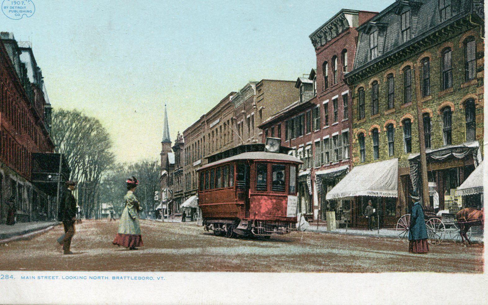 Main Street from Elliot Street, Brattleboro, Vermont
