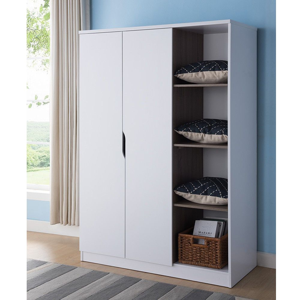 Attrayant Bedroom Furniture Tall Wardrobe Organizer Storage Closet Armoire Shelves  White