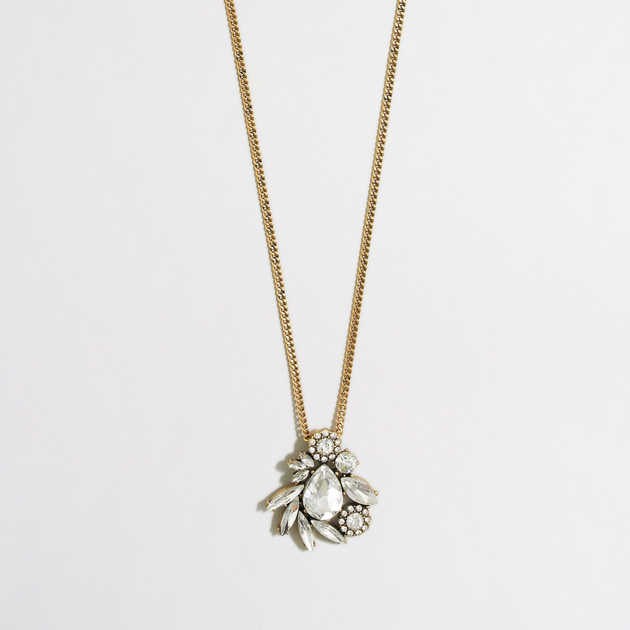 Factory winding crystals pendant necklace necklaces jcrew