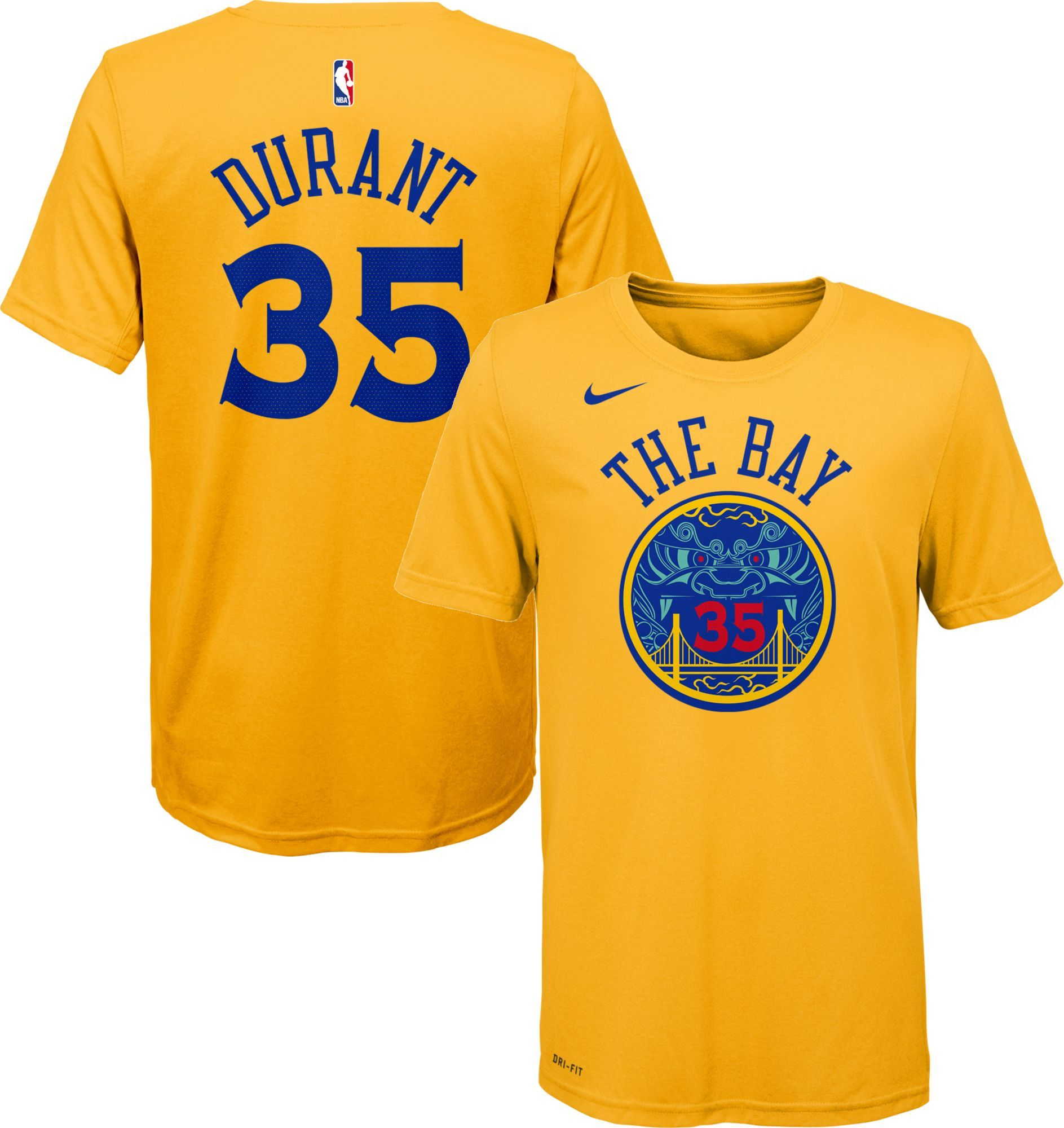 premium selection ff4a2 11fd5 Nike Youth Golden State Warriors Kevin Durant Dri-FIT City ...