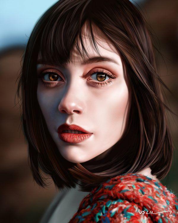 painterly   Art, Digital portrait, Face art