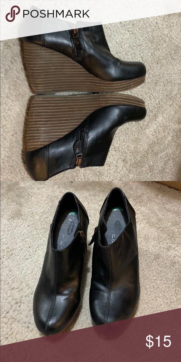 def077aa192 Dr scholls black booties Dr scholls black booties with brown ...
