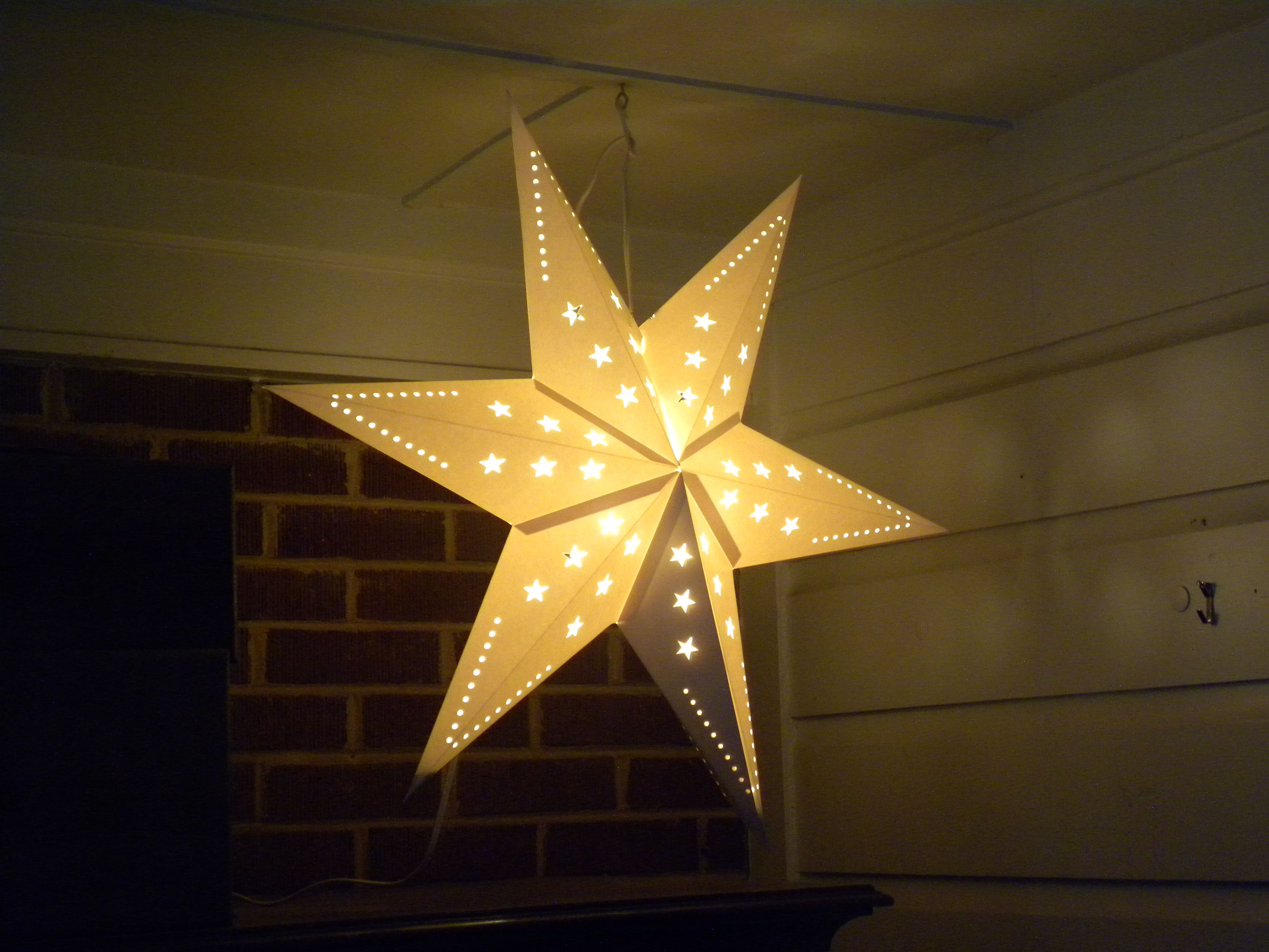 Ikea carries this star at Christmas time but I use it all