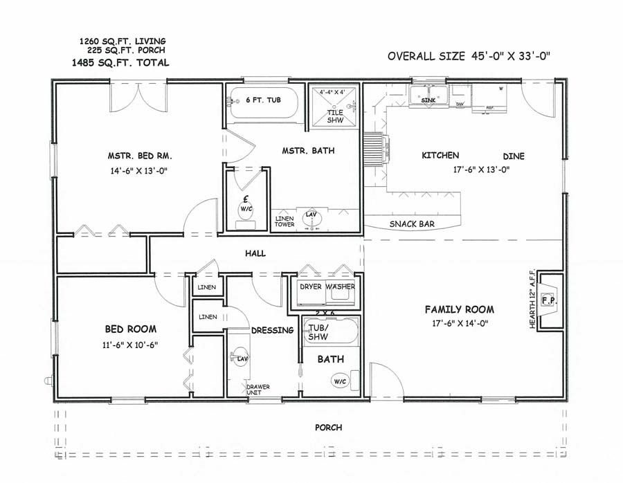 Simple square house floor plans houses floor plans for Simple square house plans
