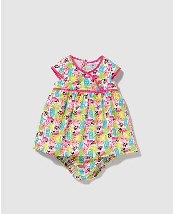 Vestido de bebé niña Disney con estampado Minnie