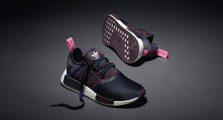adidas W NMD R1 Purple/Grid-White S75232 Womens Running Athletic ...