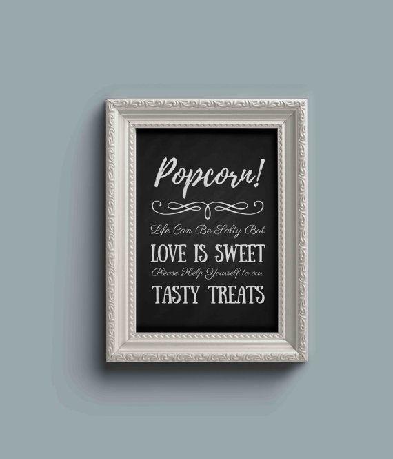 Wedding+Popcorn+Bar+Popcorn+Bar+Sign+Popcorn+Favors+by+RusticEvent