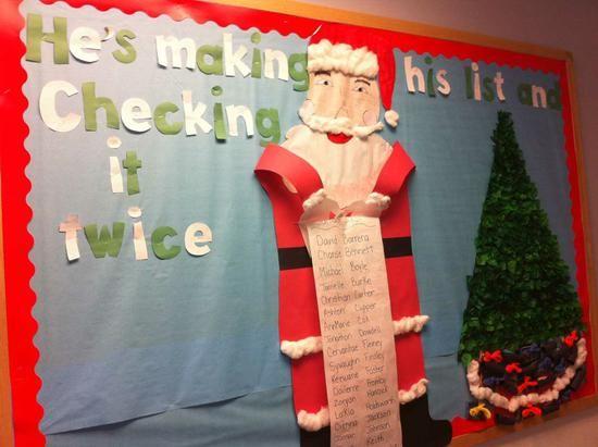 He's Making His List…Santa Classroom Bulletin Board Idea