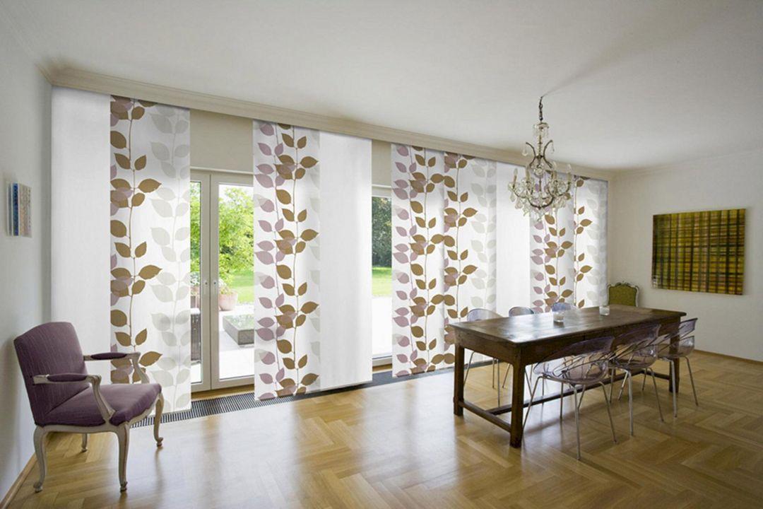 Phenomenal 40 Beautiful Modern Curtain Design To Make Scenery Your Living Room Https Door Coverings Sliding Glass Door Window Sliding Door Window Treatments