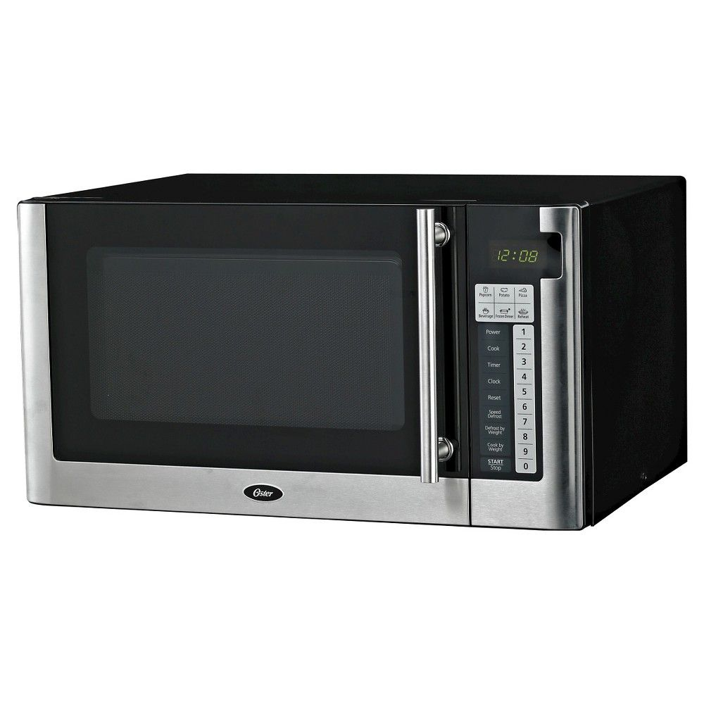 Oster 1 1 Cu Ft 1000 Watt Digital Microwave Oven Black Ogg61101 Digital Microwave Microwave Black Microwave Oven