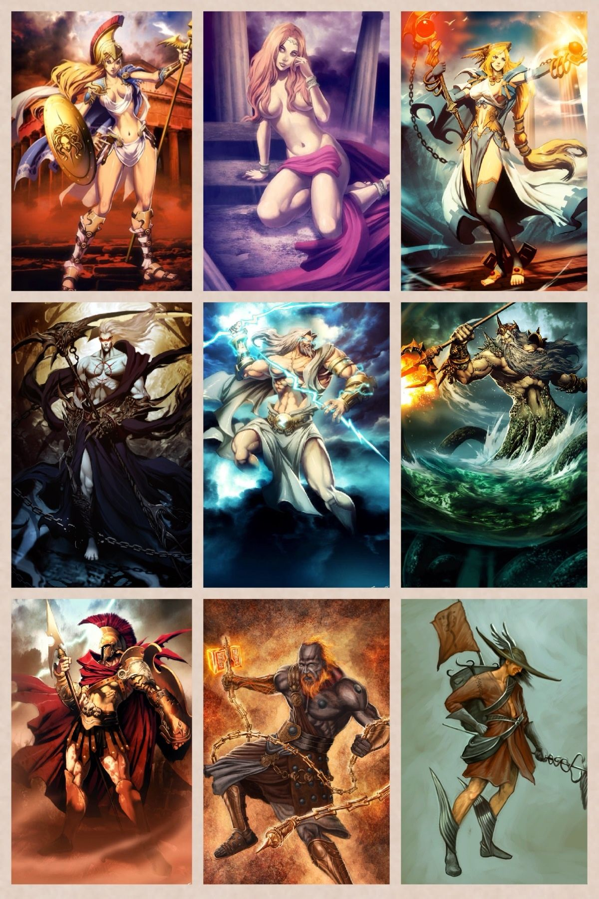 Greek Gods Of Olympus In