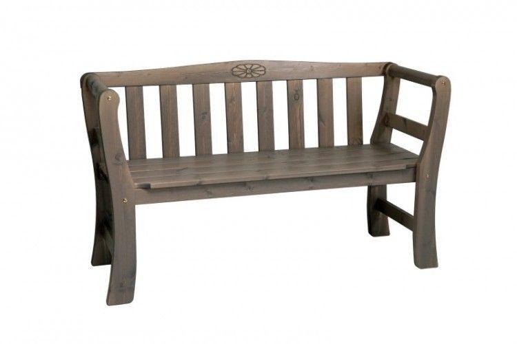 2 Seater Wooden Garden Bench Solid Swedish Pine Wood Outdoor Patio