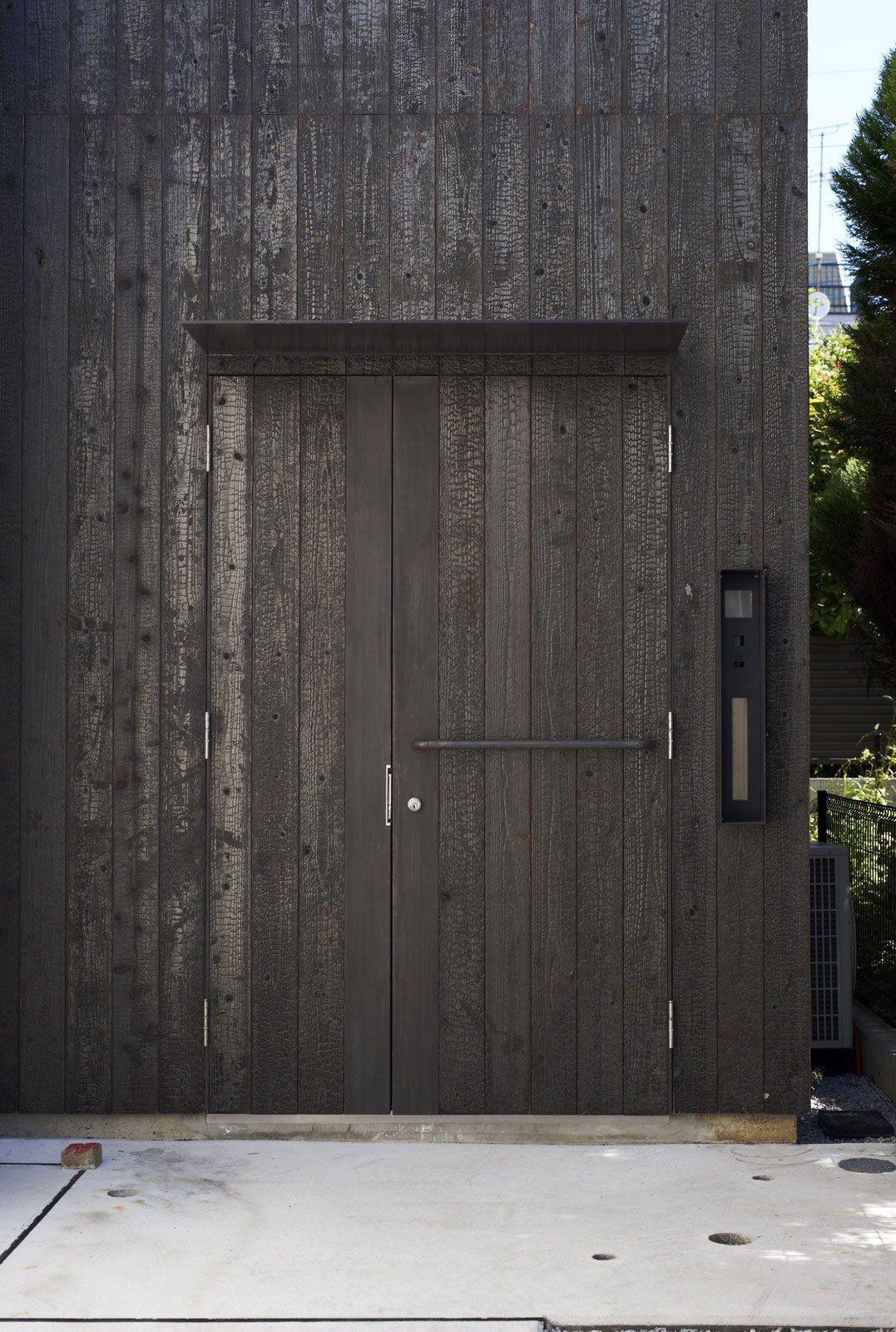 Futakoshinchi House Featuring Shou Sugi Ban Or Burnt Wood Siding