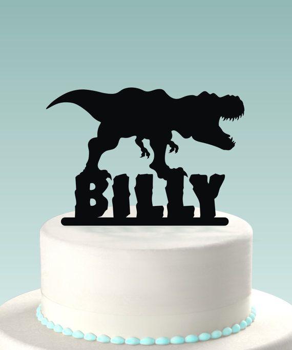 Dinosaurier Cake Topper Von GormanLaser Auf Etsy