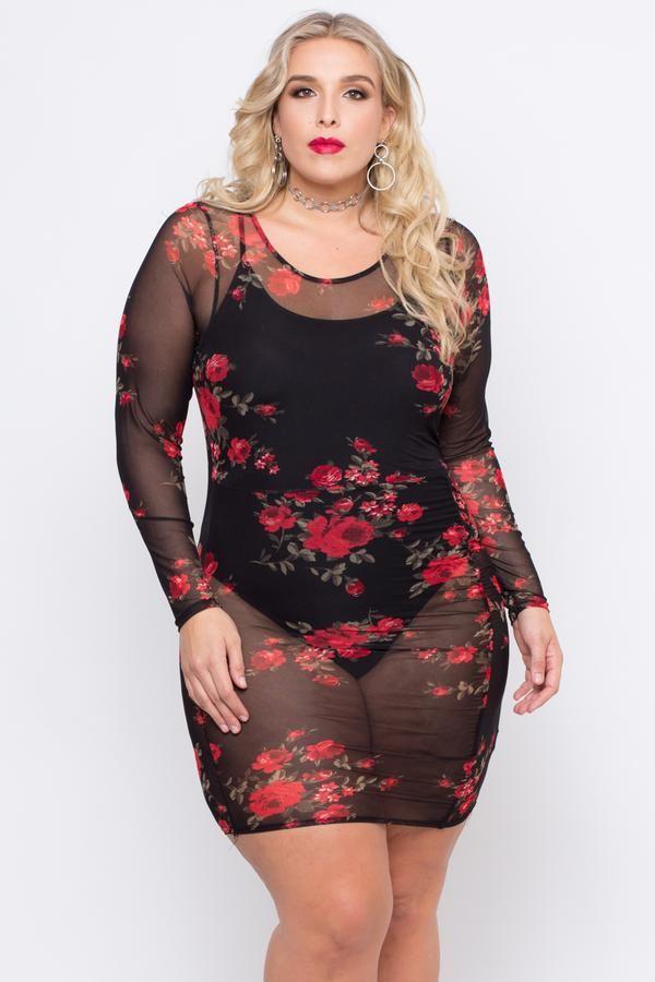 Plus Size Rose Garden Mesh Dress Black Sexy Outfits Pinterest