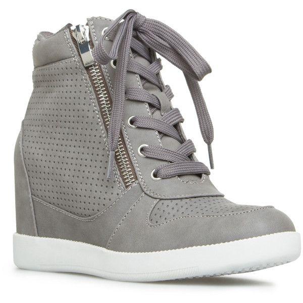 gray sneaker wedges