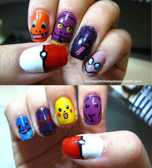 Epic Nail Art Pokemon Nails Pinterest Fabulous Nails