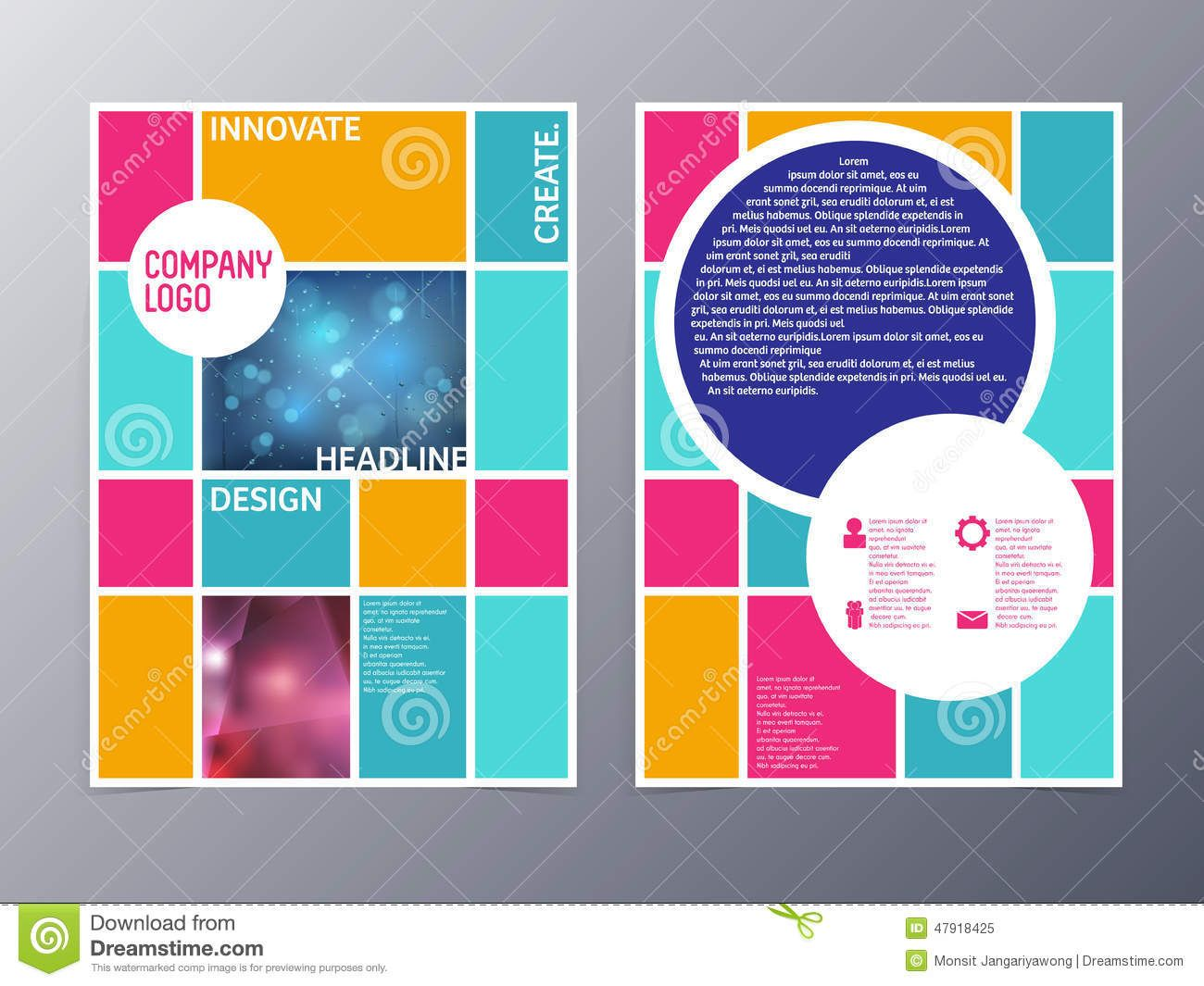abstract colorful flyer design template vector a4 download from