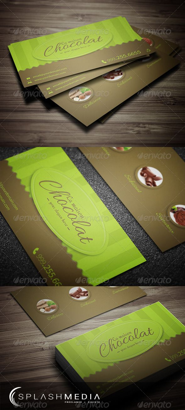 Chocolate Store Business Card 4500 | Packaging/ Business Cards ...