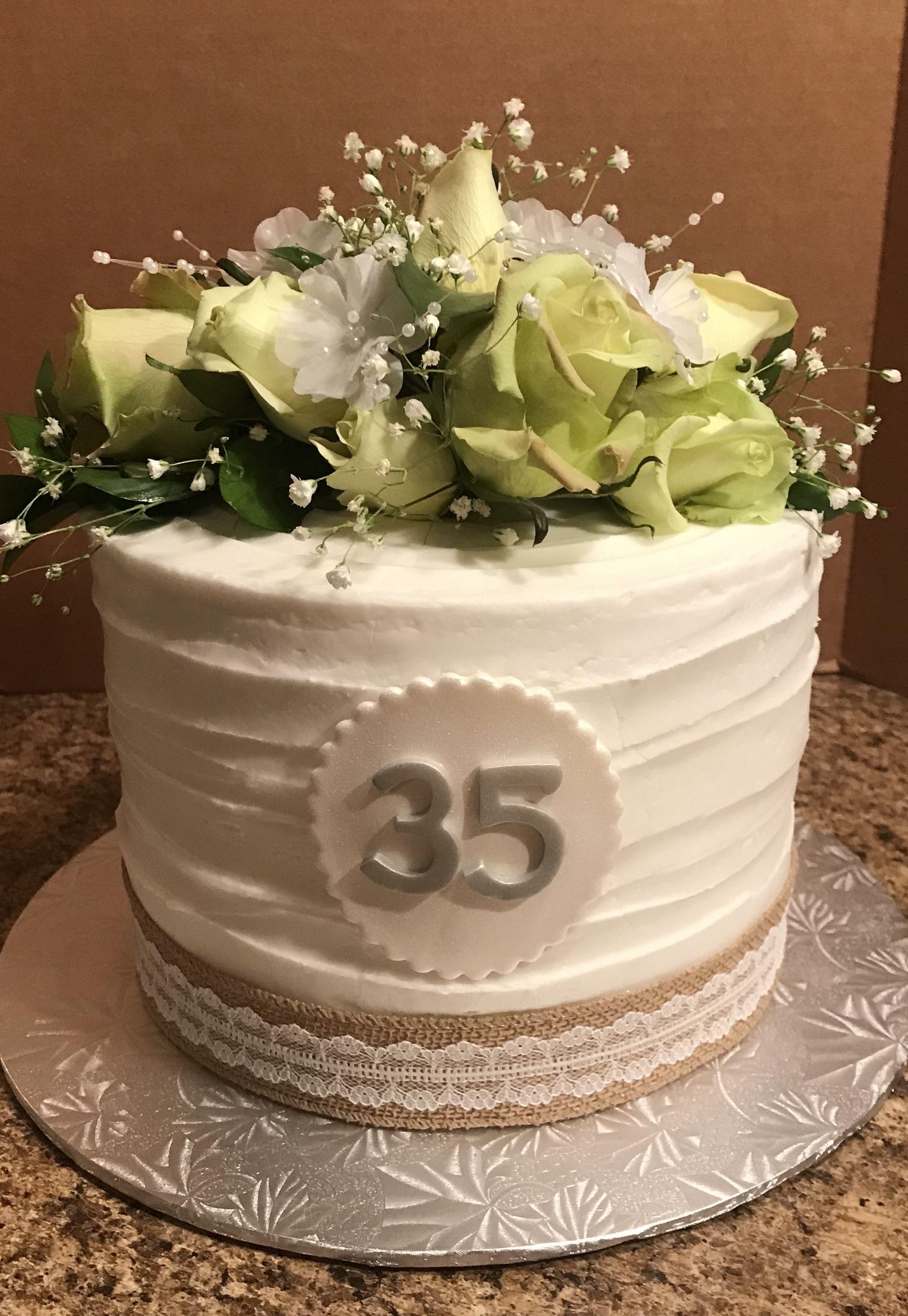 35th Anniversary Cake Anniversary Dessert 35th Birthday Cakes Anniversary Cake