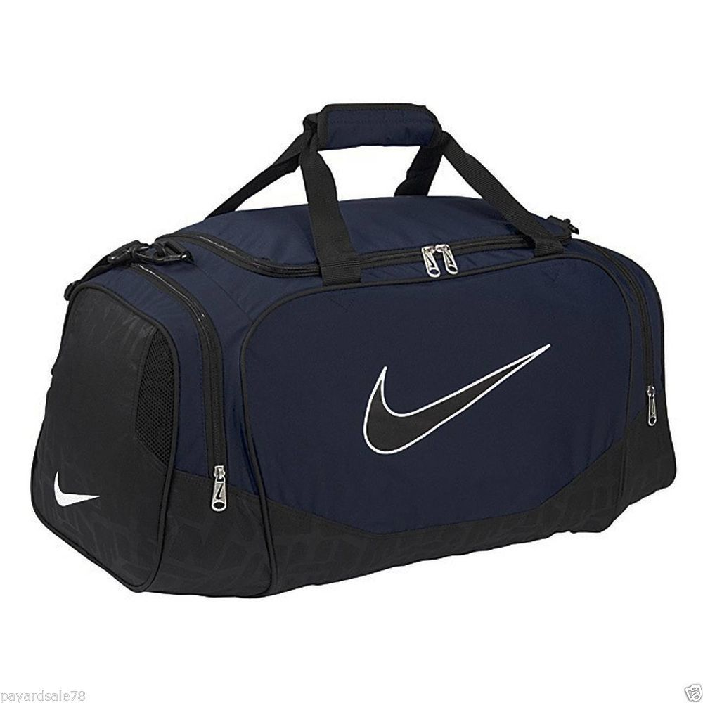 LARGE NIKE BRASILIA 5 DUFFEL DUFFLE BAG SPORTS TRAVEL CAMP BA3232-472 NAVY  BLUE e5c7abeae33ad