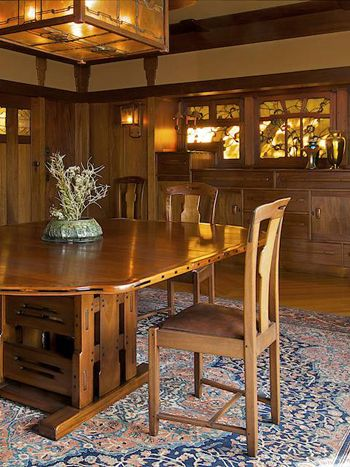 The Gamble House Craftsman Interiors Arts Crafts Style Arts And Crafts Furniture