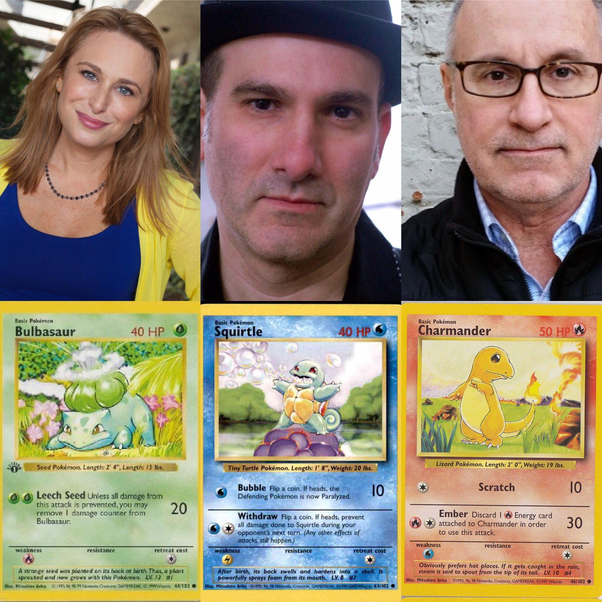 Autographed pokemon cards get all 3 starters signed by
