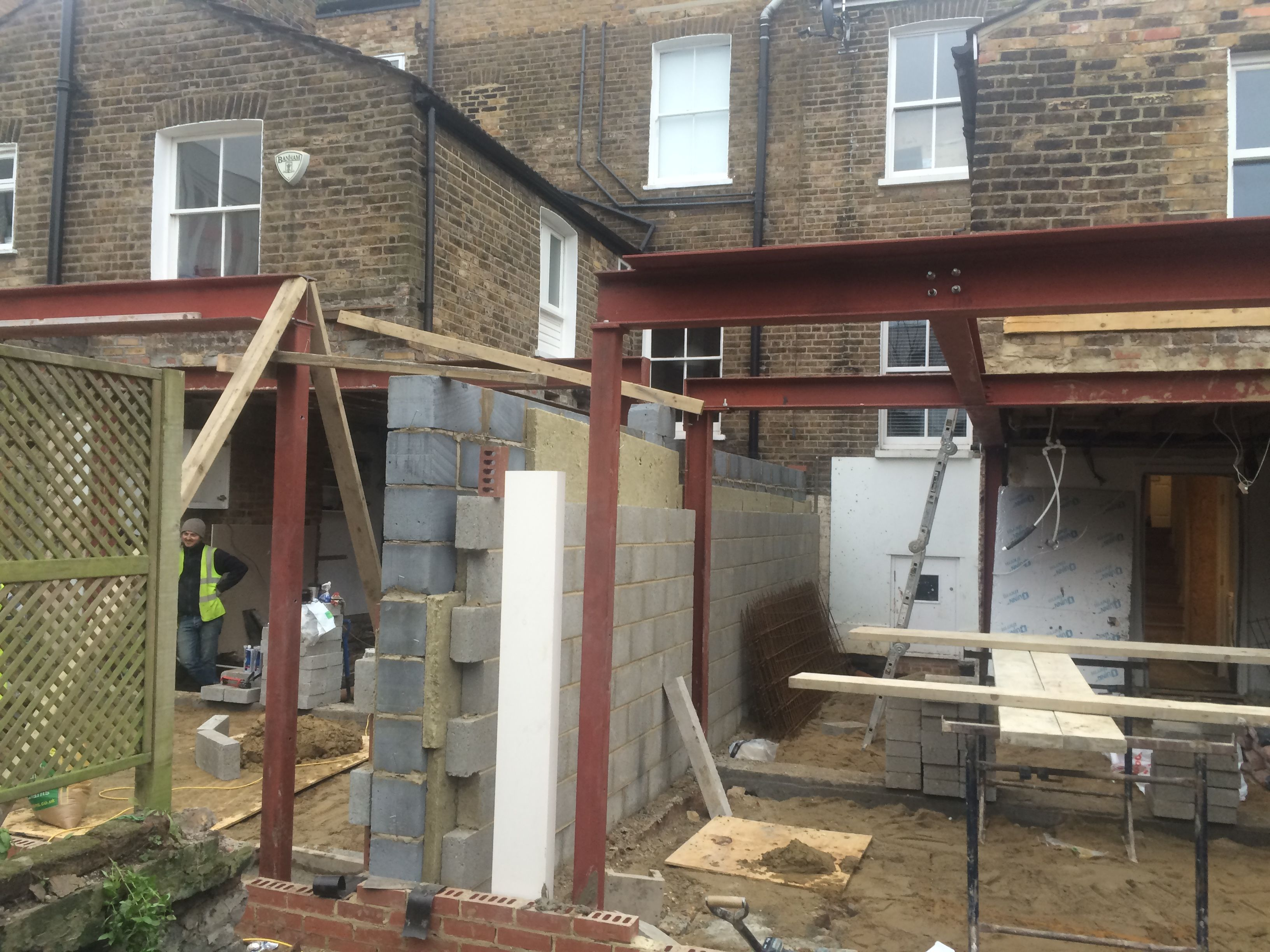 Steel Frame Has Been Inserted In This North London Ground Floor Extension Project House