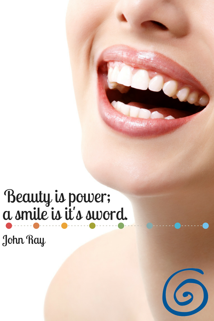 """Beauty is power; a smile is it's sword."" -John Ray"