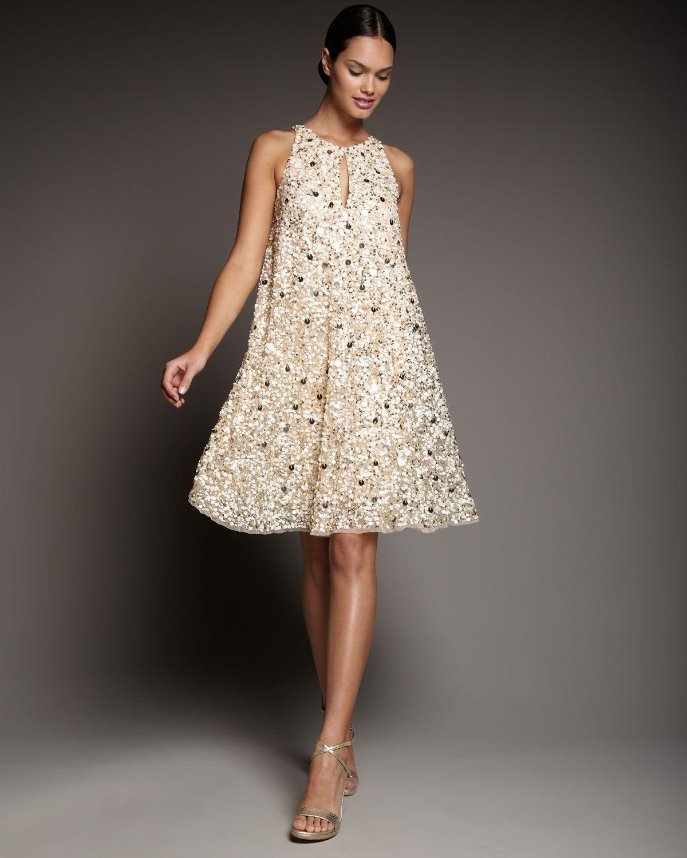 Fashion style Mattox aidan sequin dress gold for woman