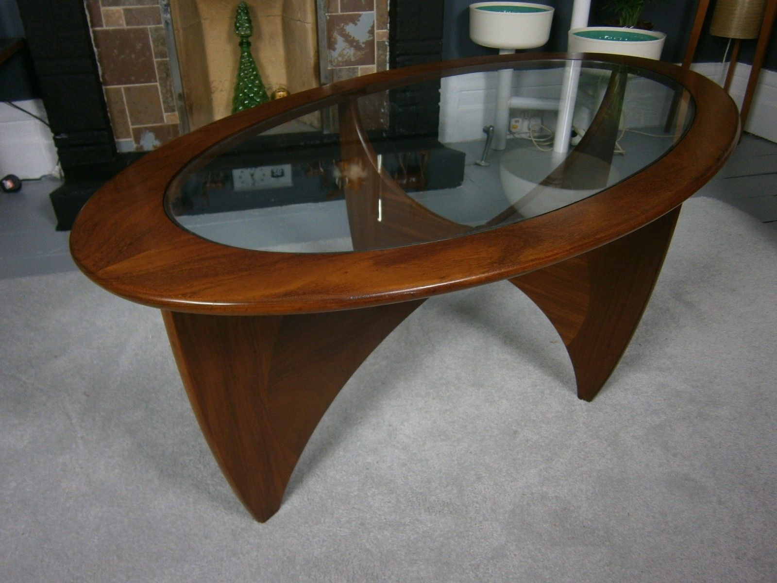 vintage retro mid century G Plan astro oval teak coffee table