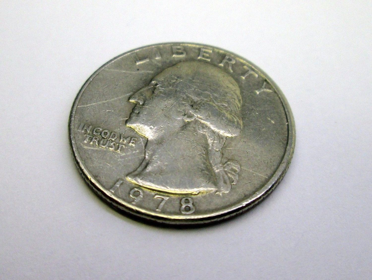 1978 US Washington Quarter 25 cent coin USA American currency - EF