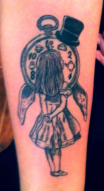 Alicia in Wonderland Tattoo.