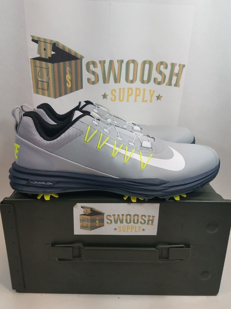 506b9a0c40bb New Nike Lunar Command 2 BOA Men s Golf Shoes Wolf Grey Blue 888552-005  Size 7.5  Command  Athletic