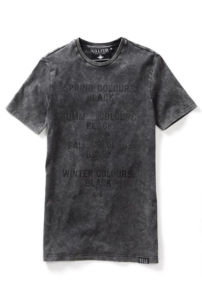 Black, Black & More Black!- Enzyme/Mineral Wash Effect. Classic fit t-shirt  with