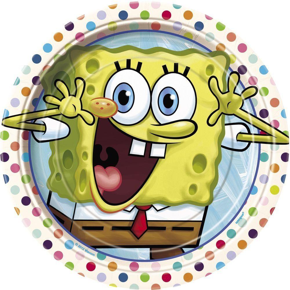 SpongeBob SquarePants Dessert Plates, 8ct, Novelty Games
