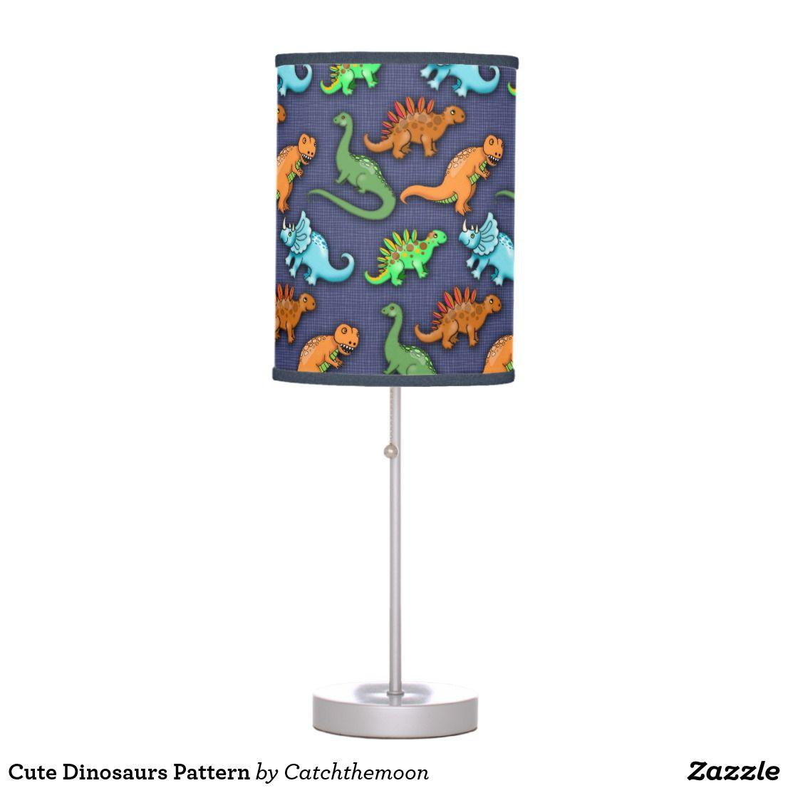 Cute Dinosaurs Pattern Table Lamp Lamp