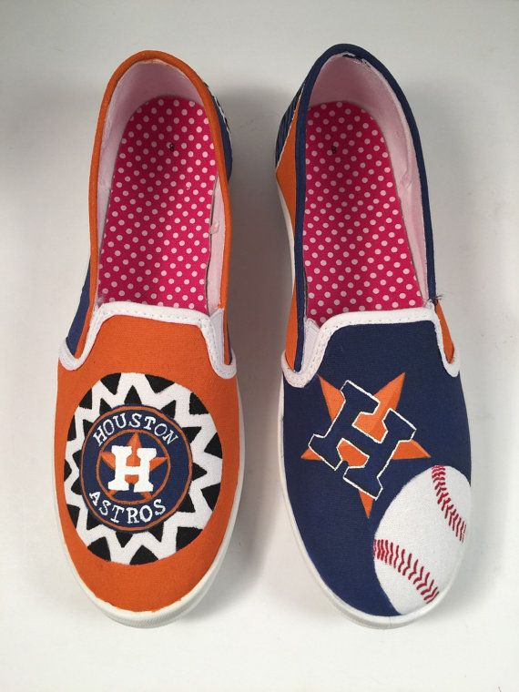 3dc9a780c2722 Houston Astros hand painted shoes by ExquisitePerfection on Etsy ...