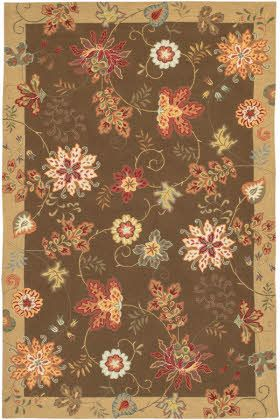 Surya Flor Flo 8902 Dark Brown Poppy Red Oyster Gray Area Rugs Buying Rugs Online Floral Rug Area Rugs