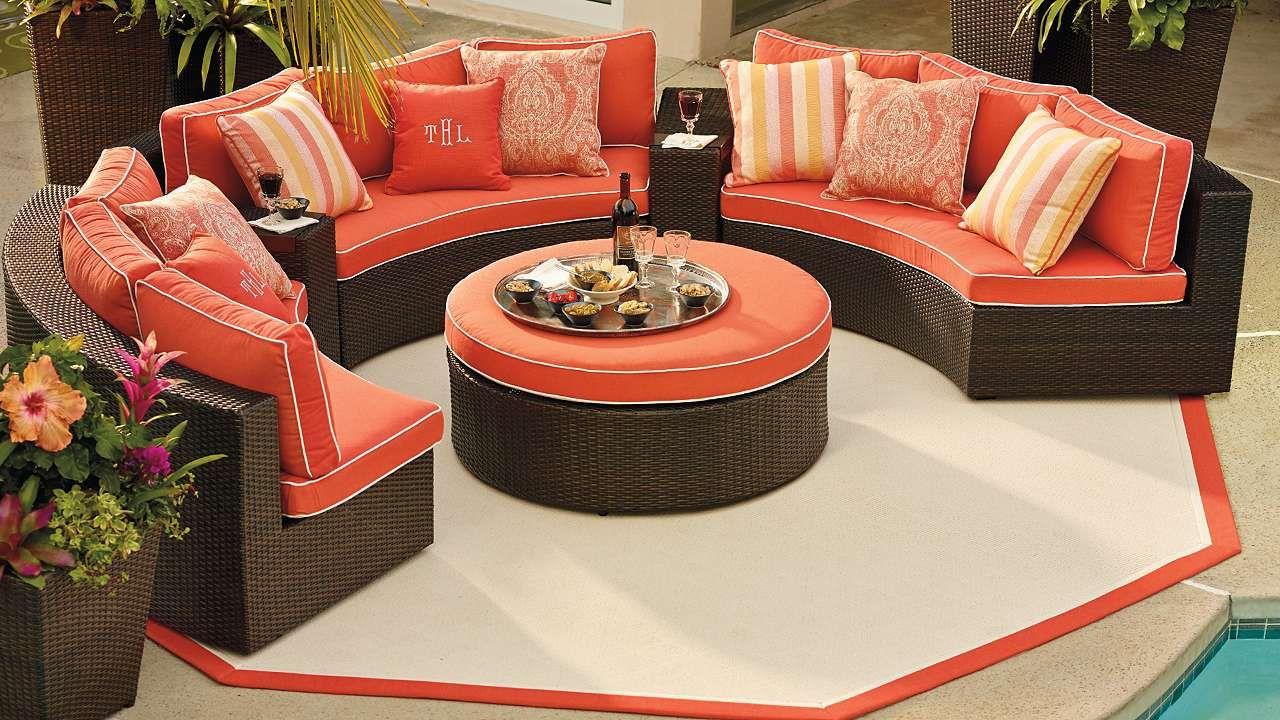 Pasadena 5-pc. Sofa Set - Pasadena Modular Outdoor Collection Sofa Set, Front Gates And Sunroom