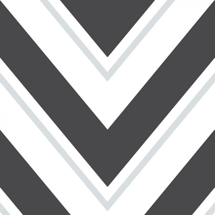 Chevron Wallpaper Black and White Rasch 304107 in 2020 ...