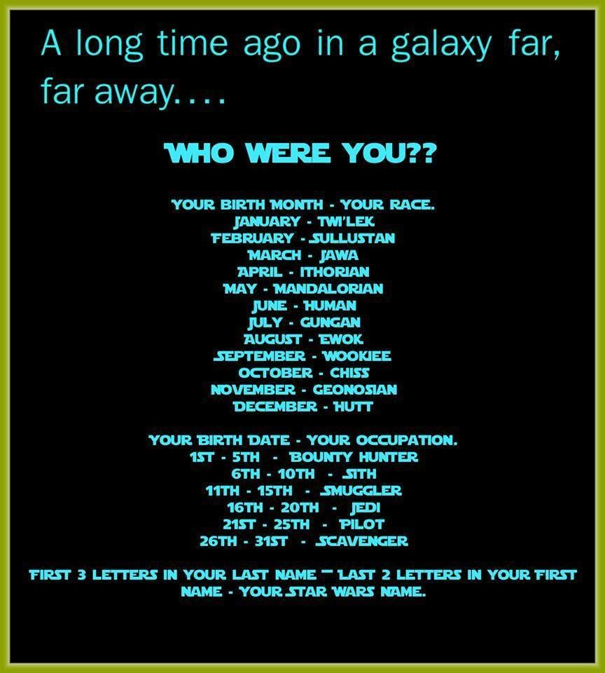 Who Were You In Star Wars Star Wars Humor Star Wars Star Wars Memes